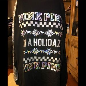 PINK Victoria's Secret Tops - NWT VS PINK LONG SLEEVE WITH BLING TOP